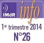 IMdR Info n°26 - 1er trimestre 2014