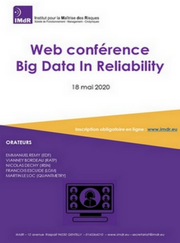Web conférence Big Data in Reliability