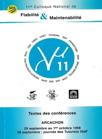 11ème Colloque de Fiabilité et de Maintenabilité Lambda Mu11