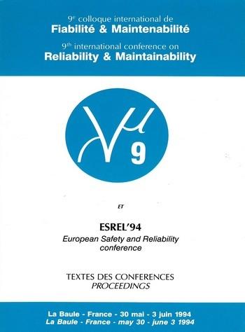 9e colloque international sur la Fiabilité et la Maintenabilité - Textes des conférences Lambda mu 9