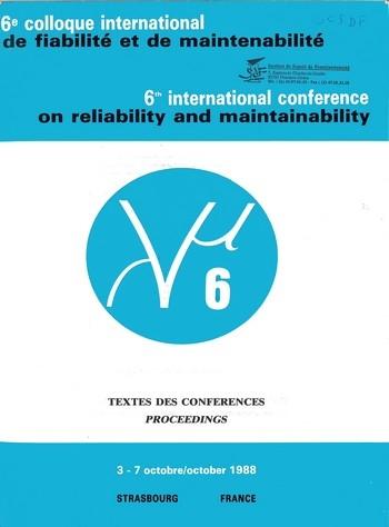 6e colloque international sur la Fiabilité et la Maintenabilité - Textes des conférences Lambda Mu 6