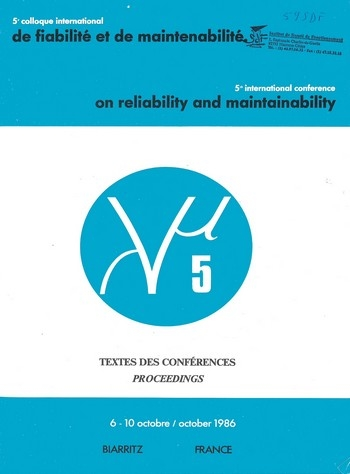 5e colloque international sur la Fiabilité et la Maintenabilité - Textes des conférences Lambda Mu 5