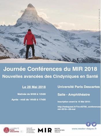Journée Conférences du MIR 2018 : Nouvelles avancées des Cindyniques en Santé