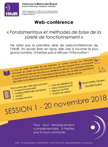 Web-conférence - Session 1 « Fondamentaux et méthodes de base de la sûreté de fonctionnement »