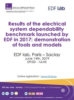 Results of the electrical system dependability benchmark launched by EDF in 2017: demonstration of tools and models