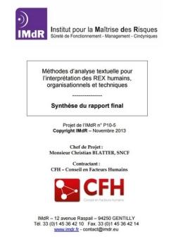 Méthodes d'analyse textuelle pour l'interprétation des REX humains, organisationnels et techniques