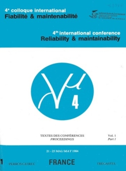 4e colloque international sur la Fiabilité et la Maintenabilité - Textes des conférences Lambda Mu 4