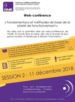 Web-conférence - Session 2 « Fondamentaux et méthodes de base de la sûreté de fonctionnement »
